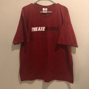 Nike the axe is ours graphic t shirt red VTg